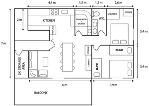 The Floor Plan of the Courchevel Chalet