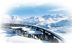 The Amazing Ski Area With Its Vast Amount Of Snow And Pleasant Views